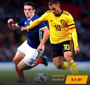 Шотландия - Бельгия: бесплатный прогноз на матч 09.09.2019